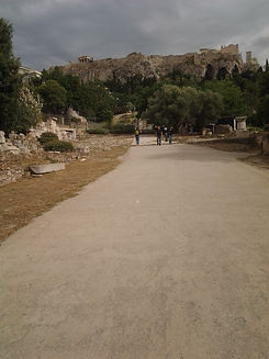 Panathenaic Way Ancient Athens Acropolis