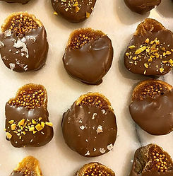 Chocolate Dipped Figs  #chocolate #choco