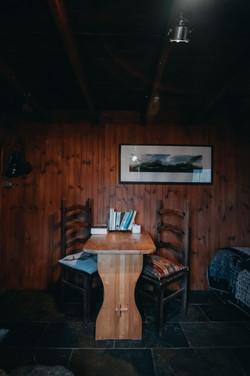 Dining, writing, reading...