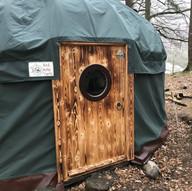 Yurt front door