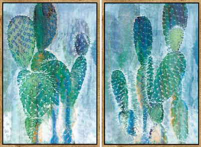 Painted Cactus I & II