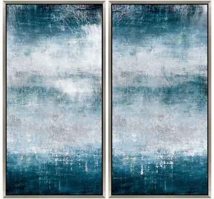 Blue Abstract I & II