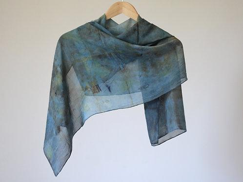 Botanically Dyed Long Silk Scarf | Bush and Sky