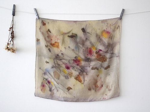Small Silk Scarf | Dark Yellow