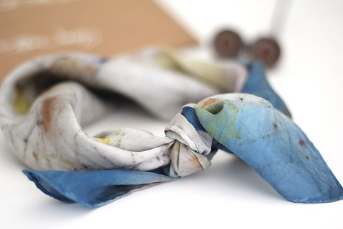 Small Silk Scarf | Indigo