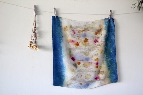 Small Silk Scarf | Indigo