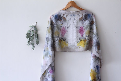 Botanically Dyed Long Silk Scarf