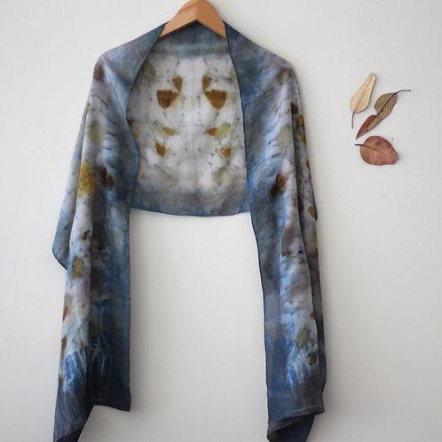 Botanically Dyed Long Silk Scarf