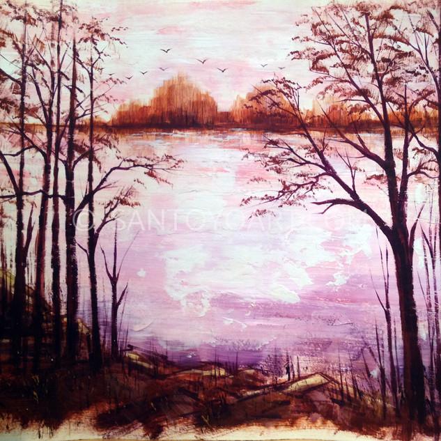 30x40_Paradise_Lake_Acryllic_Paper_1978.