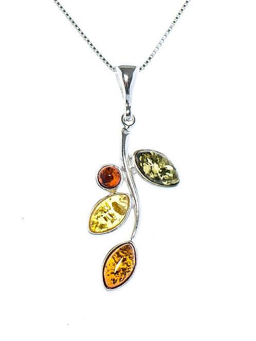 Mixed Amber Leaf Pendant