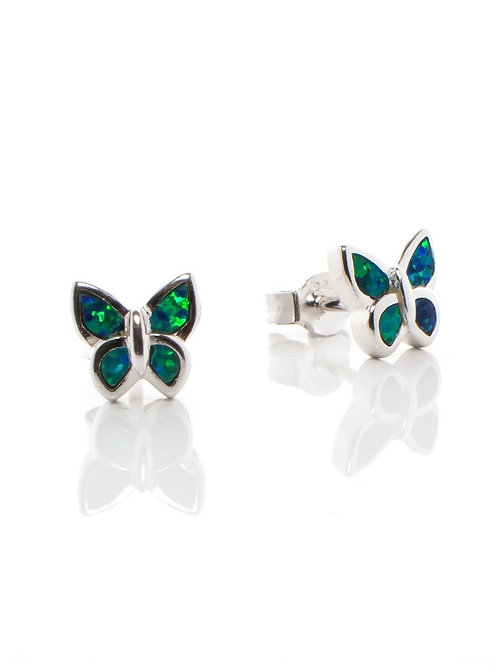 Peacock Opal Butterfly Studs