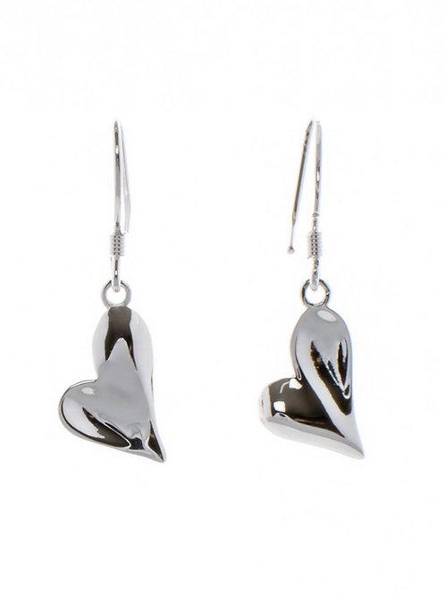 Lopsided Heart Earrings
