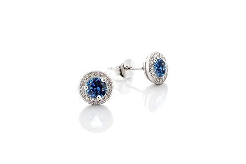 Sapphire Round Pave Studs