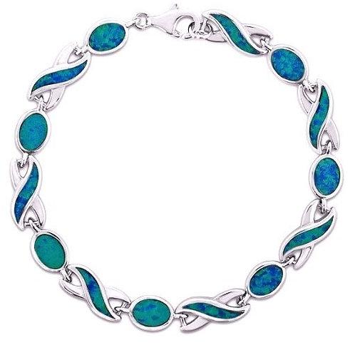 Blue Opal Wave Bracelet