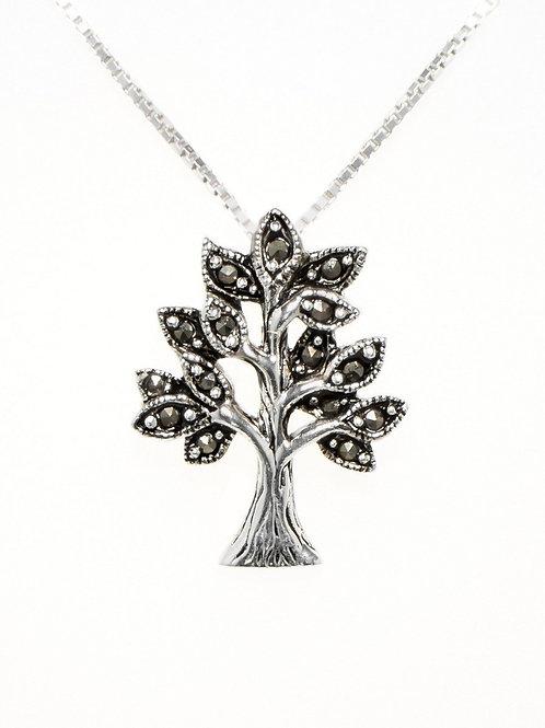 Marcasite Tree of Life Pendant