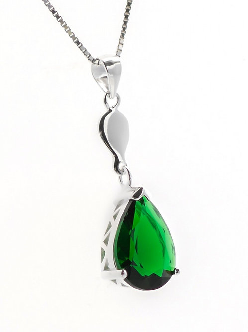 Emerald Green Large Teardrop Pendant