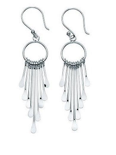 Multi-strand Drop Hoop Earrings