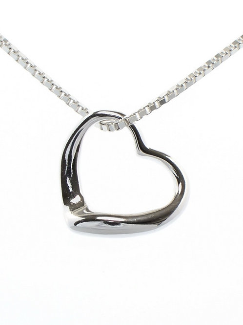 Small Open Heart Pendant