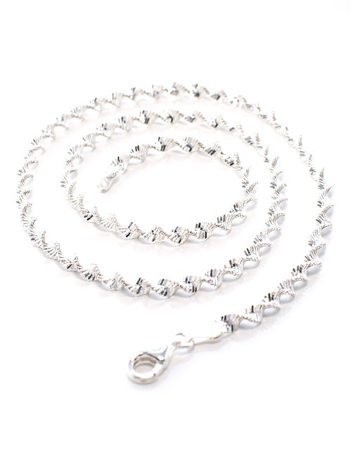 Italian Silver Twist Necklace
