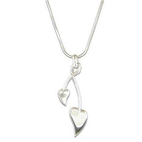 Double Arrow and Heart Pendant