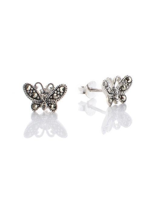 Marcasite Butterfly Earrings