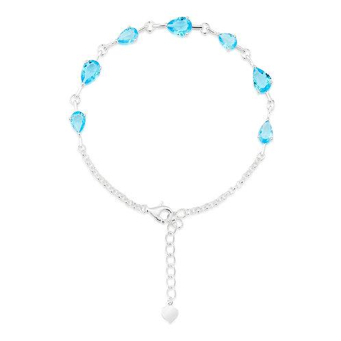 Aquamarine Teardrop Bracelet