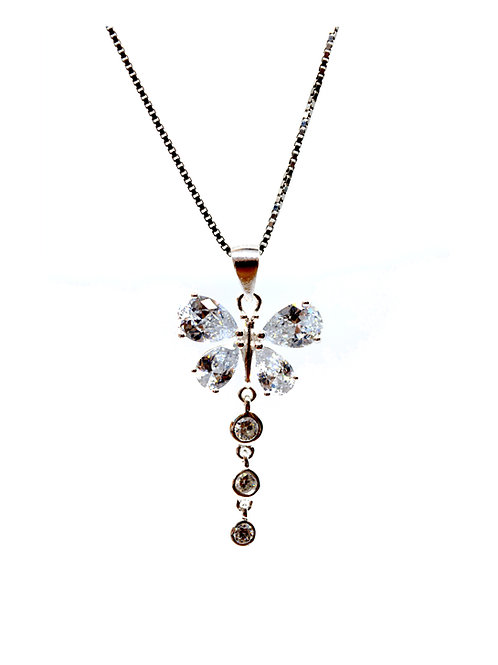 Cubic Zirconia Butterfly Pendant