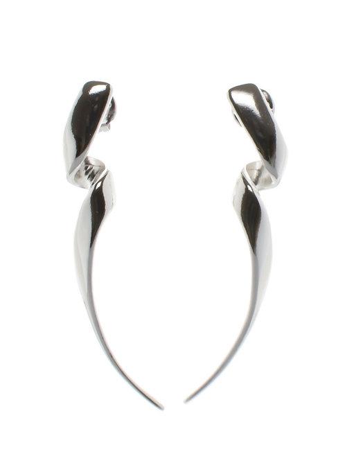 Elongated Spiral Earrrings