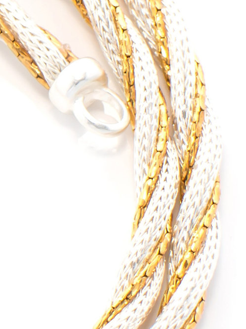 Italian Silver and Gold Bracelet