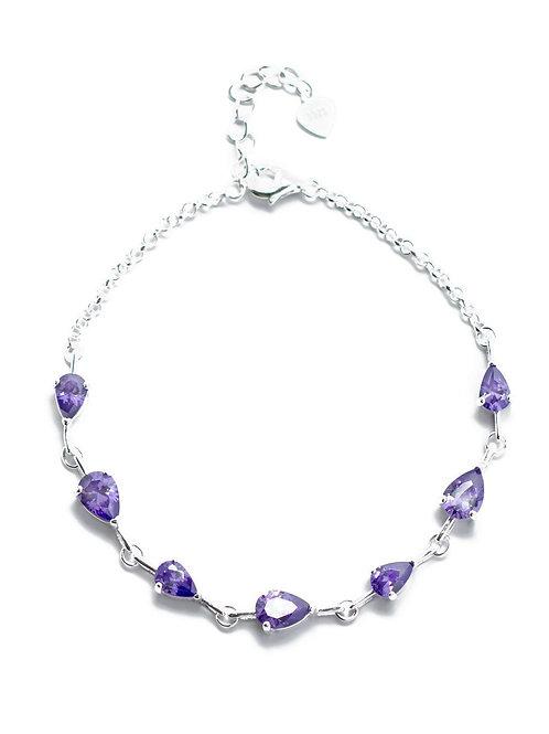 Tanzanite Teardrop Bracelet