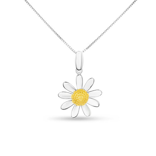 Daisy Pendant with gold centre