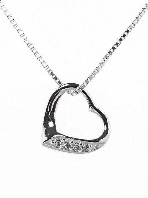 Small Sparkly Heart Pendant