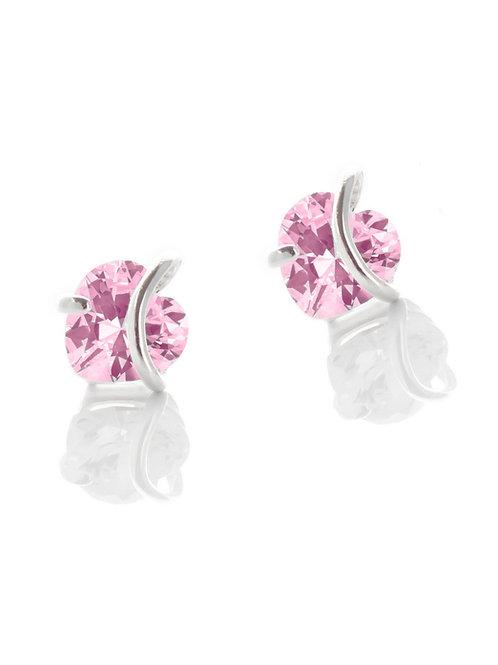 Tourmaline Heart Studs Earrings