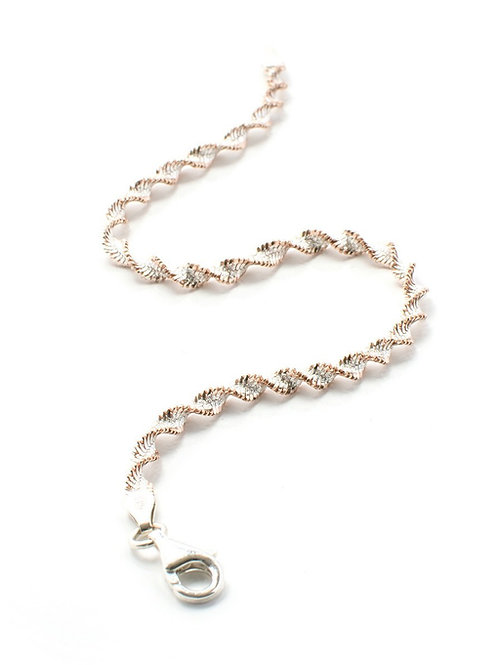 Rose Gold and Silver Twist Bracelet
