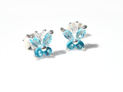 Blue Butterfly Studs