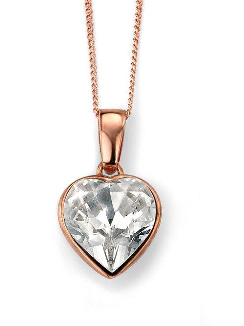 Rose Gold Crystal Heart