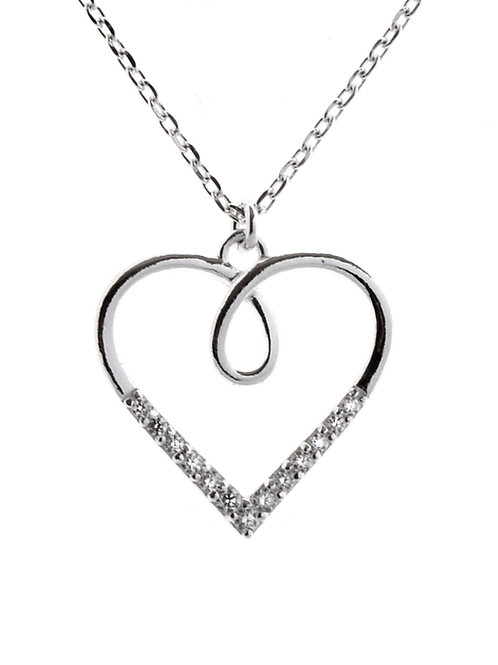 Loop Outline Heart Necklace