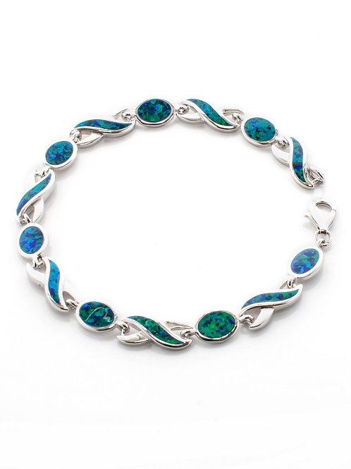 Peacock Opal Wave Bracelet