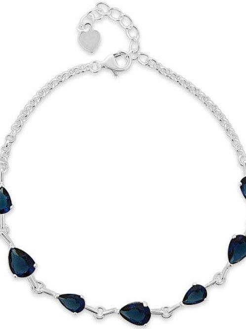 Sapphire Blue Teardrop Bracelet