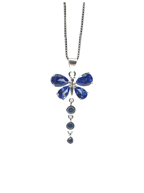 Alexandrite Coloured Butterfly Pendant