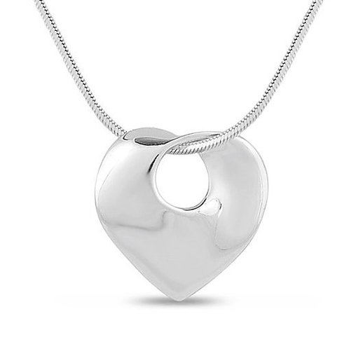 Solid Silver Heart