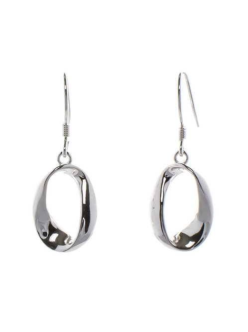 Twisted Oval Drop Earrings