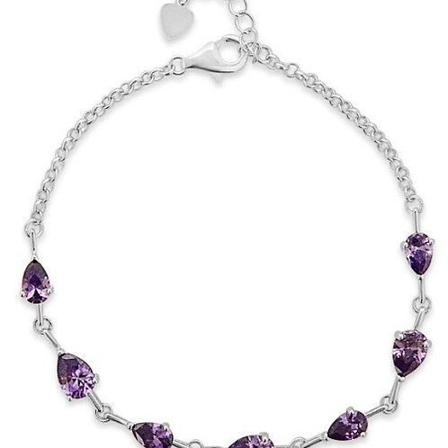 Amethyst Teardrop Bracelet