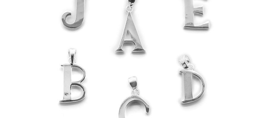 Silver Initial Pendants
