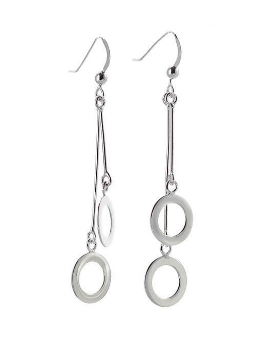 Two Circles Drop Earrings
