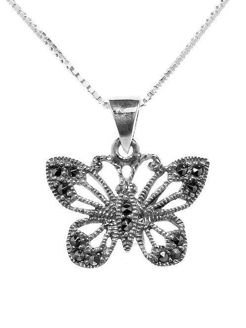 Butterfly Marcasite Pendant