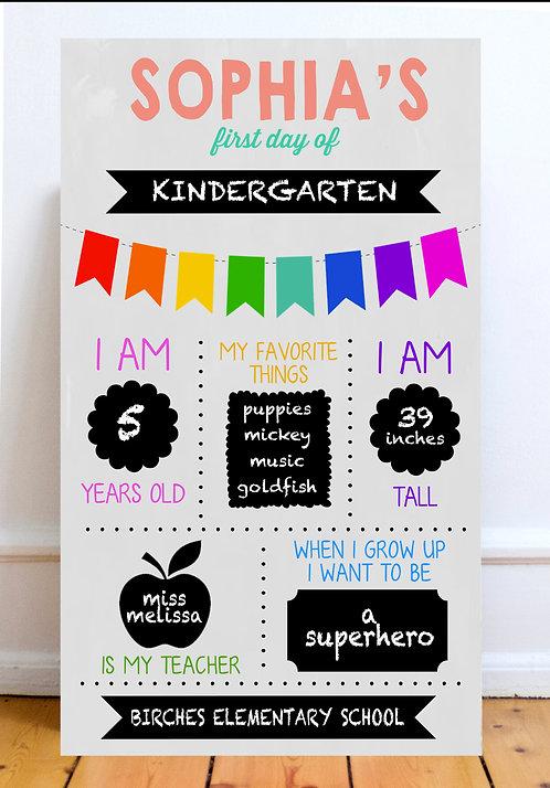 School/Birthday Chalkboards