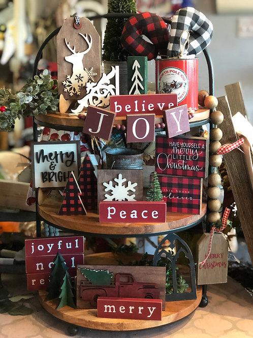 Merry & Bright Tray Set