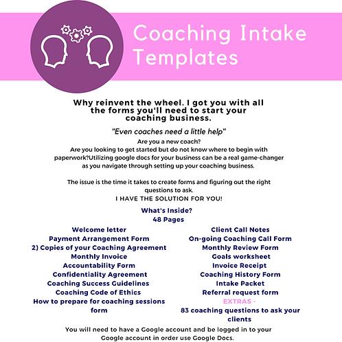 Coaching Intake Packet