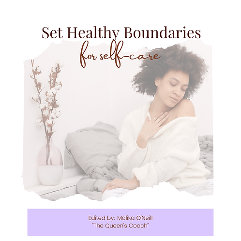 Set Healthy Boundaries for Self-Care